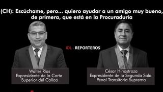 Difunden nuevas conversaciones entre Hinostroza y Ríos tratando nombramientos por encargo