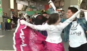 Fiesta al ritmo de marinera se vivió al interior de la estación La Cultura