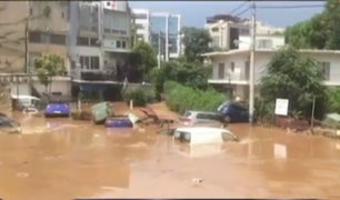 Grecia: inundaciones afectan Atenas tras incendios