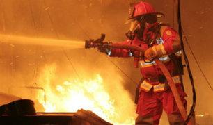 Bomberos lograron sofocar incendio en vivienda de San Martín de Porres