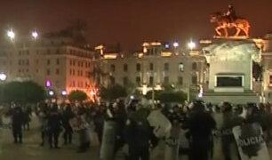Varios disturbios se generaron entre policías y manifestantes durante la marcha contra la corrupción