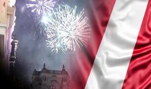 Centro de Lima: con fuegos artificiales se iniciaron las celebraciones por la patria
