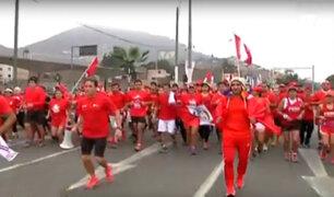 Fiestas Patrias: deportistas corren 14 kilómetros por 28 de julio