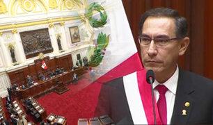 Presidente Vizcarra anuncia que sumará a referéndum la reelección de congresistas