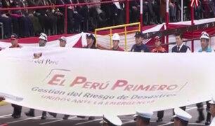 """Agrupamiento """"El Perú Primero"""" participó del Desfile Patrio"""