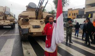 El 'Hincha israelita' llegó a la Parada Militar y envió este mensaje al país