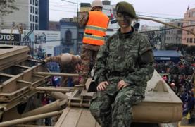 Equipo de Panamericana Televisión desfiló junto a destacamento del Ejército