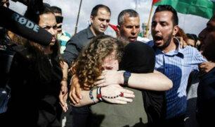 Adolescente símbolo de protestas en Palestina fue liberada