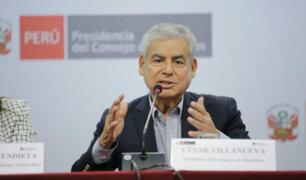 César Villanueva: proyecto de reforma del CNM está casi listo