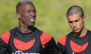 Luis Advíncula completó su primer entrenamiento en Rayo Vallecano