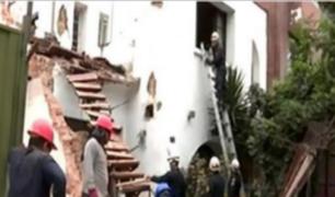Miraflores: dos personas quedaron atrapadas en derrumbe de vivienda