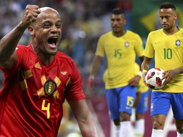 Bélgica vence 2-1 a Brasil y lo saca del Mundial Rusia 2018