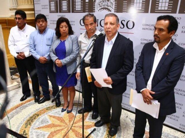 Tía María: bancada de Frente Amplio viajará a Arequipa