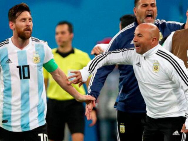 Se filtra discusión entre Messi y Sampaoli durante el Mundial