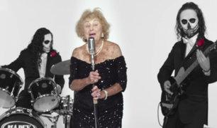 """Suiza: """"abuela metalera"""" sobreviviente del holocausto causa furor con sus canciones"""