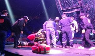 Magia del circo se ve afectada por fatales accidentes en plena función