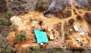 Madre de Dios: PNP destruye maquinaría de la minería ilegal