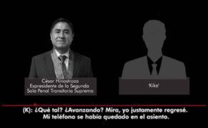 Nuevo audio revela reunión entre Juez Hinostroza y periodista Aldo Mariátegui