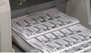 ONPE inició impresión de material electoral para el de 7 octubre