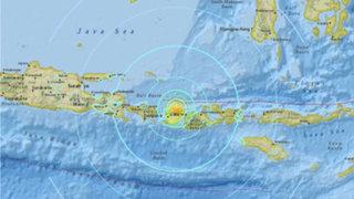 Terremoto de 7 grados de magnitud remeció Indonesia