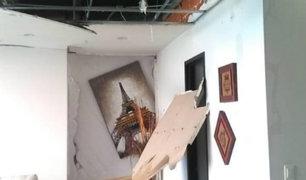 Departamento de Gallese destruido por explosión