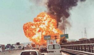 Italia: explosión de camión cisterna deja al menos 2 muertos y más de 60 heridos