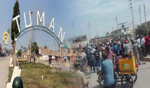 Lambayeque: continúan enfrentamientos entre trabajadores de la azucarera Tumán
