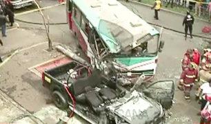 Pueblo Libre: triple choque deja ocho personas heridas en la avenida Bolívar