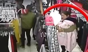 """""""Tenderas"""" alquilarían bebés para cometer sus robos en tiendas de Gamarra"""