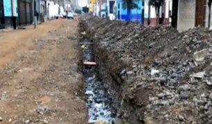 La Victoria: obras inconclusas son un riesgo para vecinos en Prolongación La Mar