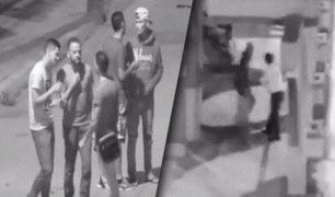 Tumbes: cámaras captan a ciudadanos extranjeros cuando intentan asaltar a un transeúnte