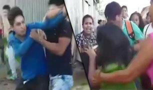 Vecinos se pelean por destitución de un dirigente vecinal en Iquitos