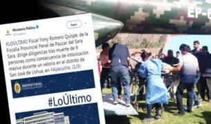 Ayacucho: fiscal provincial de Páucar del Sara Sara dirige diligencias por intoxicación masiva
