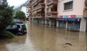 Reportaron lluvias torrenciales en Suiza