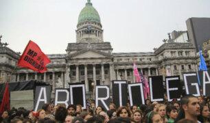 Senado argentino rechazó proyecto para despenalizar aborto