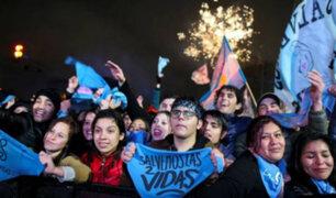 """Argentina: miles salieron a celebrar la """"no"""" despenalización del aborto"""