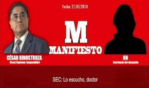 Audio revela reunión de César Hinostroza con exprocurador Luis Vargas Valdivia