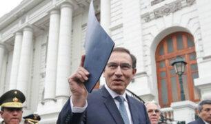 """Martín Vizcarra: """"Las cuatro reformas tienen que aprobarse por el Congreso"""""""