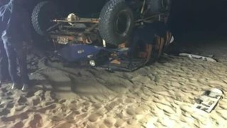 Tragedia en Ica: un muerto y al menos 9 heridos tras volcadura de tubular en la Huacachina