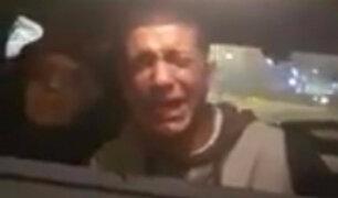 Distribuidor de drogas llora y reza tras ser detenido por la Policía