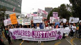 """""""Ni Una Menos"""": multitudinaria movilización culminó frente a sede del CNM"""