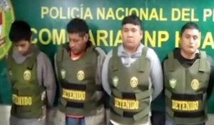Huacho: policía captura a banda de delincuentes antes de cometer asalto