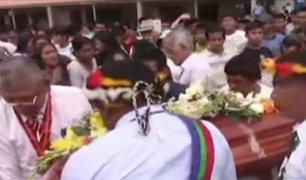 Bagua: sacerdote asesinato fue despedido en medio de cánticos y oraciones