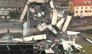Italia: varios muertos tras desplome de puente en autopista de Génova