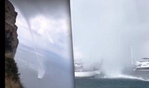 Francia: video aficionado capta impresionante tornado en el mar Mediterráneo