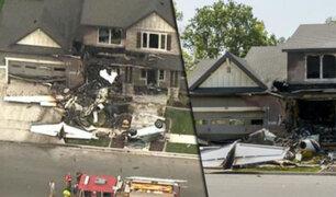 EEUU: hombre pierde la vida al estrellar avioneta contra su propia casa