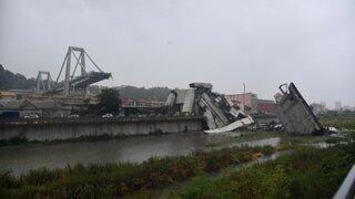 Italia: se elevó a 35 la cifra de muertos por derrumbe de puente