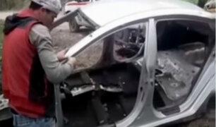 VES: delincuentes roban auto a taxista y lo devuelven desmantelado