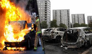 Suecia: pandilleros incendian más de un centenar de autos en distintas ciudades de esa nación