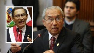 Fiscal de la Nación se pronuncia sobre pedido de autocrítica del presidente Vizcarra